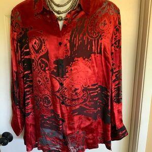 CHICO'S silk blend plus size blouse